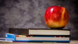 skole og æble