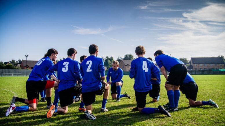 Fodboldhold er til træning