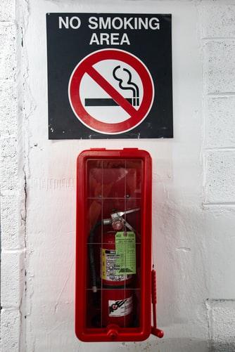 no smoking, brandslukker